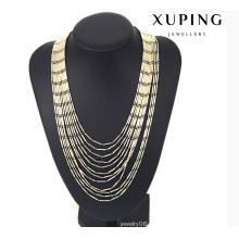 43119 Collier de chaîne de bijoux multicolore de charme de mode en cuivre d'alliage