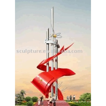 2016 New High Quality Stainless Steel Sculpture Modern Sculpture High Quality Fashion Urban Statue