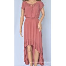 Vestido longo irregular feminino