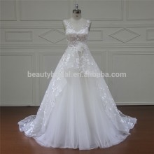 Xf16037 Simple Divisoria A-line Bridesmaid Lace Wedding Gowns