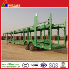 Euro Style Two Single Wheel Axles Car Carrier Semi Trailer
