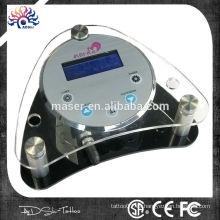 Bajo ruido permanente maquillaje dispositivo de acrílico tatuaje fuente de alimentación baja vibración