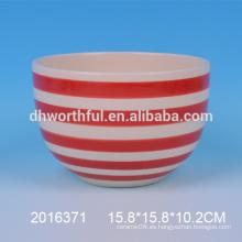 Nuevo tazón decorativo, tazón de cerámica, tazón hecho a mano para la venta al por mayor