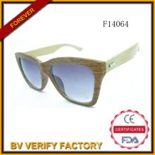 F14064 Guter Qualität Bambus Sonnenbrille mit polarisierten Linse