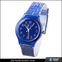Relógio de quartzo personalizado relogio relógio de pele