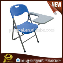plastic tubulous steel training chair with writing pad for school