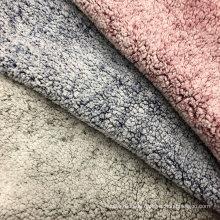 100% Polyester bedruckter Sherpa-Florstoff aus Kunstpelz
