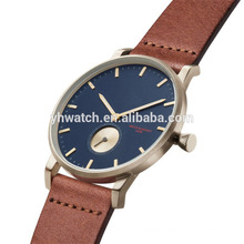 Minimalist Analog Quartz Simple Classic Round Dial Waterproof Unisex Watch