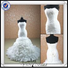 JJ0074 Beaded Ruffle Organza Skirt Mermaid Bridal Wedding Dress 2014