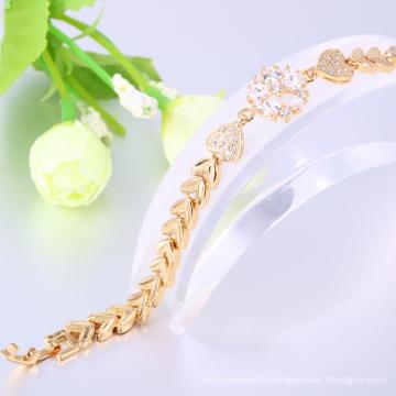 bijoux de fantaisie bracelet en or 24 carats pour les femmes