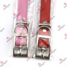Collares del animal doméstico con la venta al por mayor llana de la hebilla (PC15121404)
