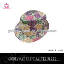 Chapéu de partido de fedora de sequin