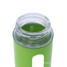hot sale bottle glass condiment set for salt and pepper shaker