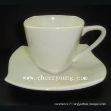 Coupe Esprssso en porcelaine et soucoupe (CY-P516)
