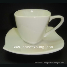 Porcelain Esprssso Cup and Saucer (CY-P516)