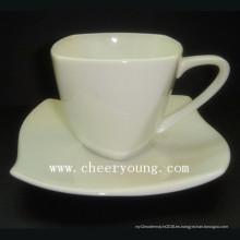 Porcelana Esprssso taza y plato (CY-P516)