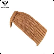 Lady's Solid Brown épais en tricot en hiver