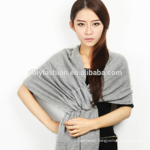 New design ladies long winter rib knitted cashmere shawl and scarf 2016