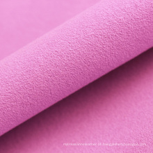 material de couro de microfibra de camurça de lado único