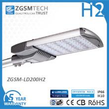 Ce RoHS Aprovado 200W Street LED Light com Protetor Contra Surtos