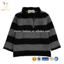 Nuevo estilo moda 100% cachemir rayas invierno bebé suéter