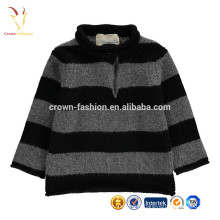 New Style Fashion 100% cachemire rayures hiver bébé pull