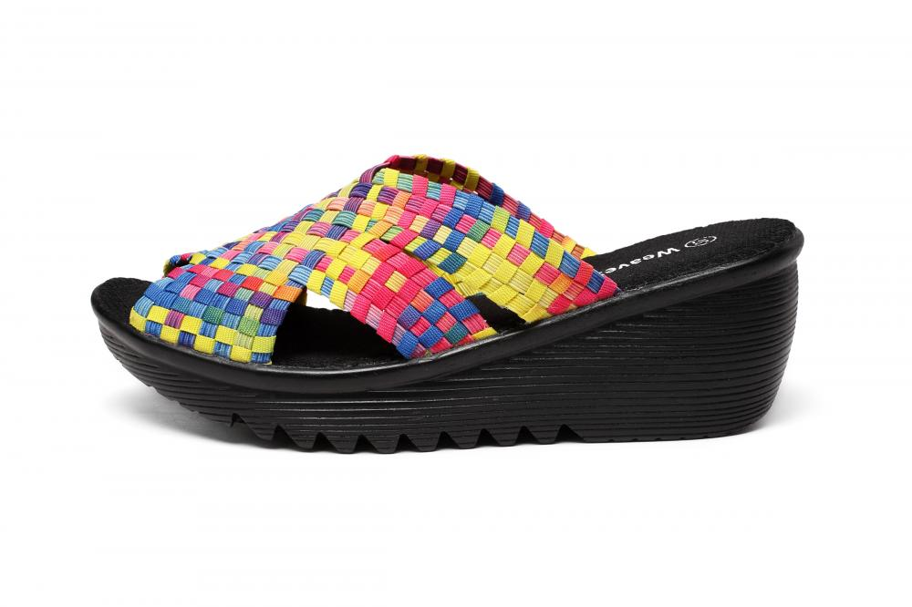 Colorful Woven Design Slippers