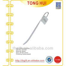 Лазерная виза логотипа металлическая брошюра / серебряные металлические закладки для книг