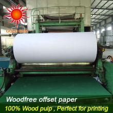 Papel de cópia A4 branco 80gsm / papel bond 80gsm, 75gsm 70gsm