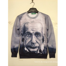 Einstein Black & White 3D Druck Sweatshirt