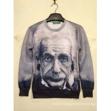 Einstein Black & White 3D Printing Sweatshirt