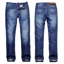 Pantalones vaqueros del dril de algodón del estiramiento del ajuste de los hombres baratos al por mayor