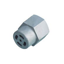 Écrou hexagonal d'acier au carbone avec l'usinage pour des pièces d'auto (DR092)