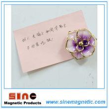 Aimant de réfrigérateur de fleurs créatives de mode