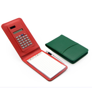8 Digits PU Notepad with Calculator