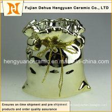 Galvanisierendes keramisches großes Beutel-Glas für Hauptdekoration