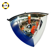 High quality acrylic quarter spherical mirror