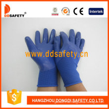 Blue Nitrile 3/4 Coating Glove-Dnn916