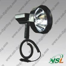 Projecteur extérieur HID 35W/55W de diamètre d'objectif HID, lumière de recherche de chasse rechargeable pour le sport en plein air