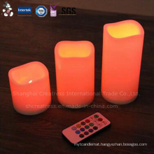 Factory Price Cheap Ivory Battery Operated LED Taper Candle