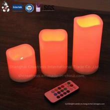 Precio de fábrica barato marfil con pilas LED Taper Candle