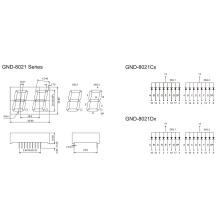 0.8inch 2 Digit 7 Segment Display (GNS-8021Cx-Dx)