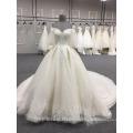 Vestido nupcial DY033 del vestido de boda del último diseño del hombro de la alta calidad