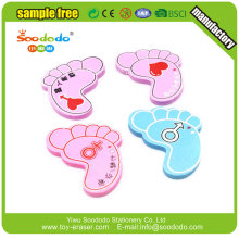 School 3d feet shaped erasers