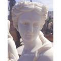 Roman woman white marble sculpture