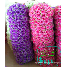 China cheap artificial flower ball wholesale for wedding decoration