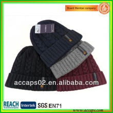custom top quality acrylic knit beanie with your logo BN-2032