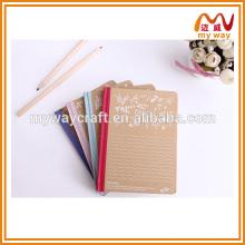 Caderno de capa dura de cor, caderno kraft, 2015 novos produtos