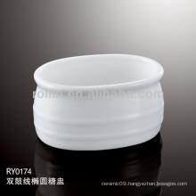 Houseware Double Line Sugar Basin,Sugar pot