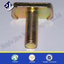 35 carbon steel grade 4.8 t handle bolt yellow zinc plated